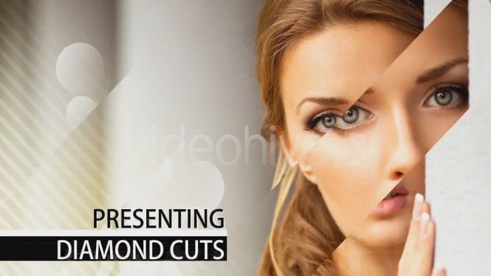 Diamond Cuts Slide Show After Effects