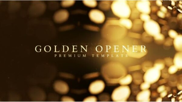 Golden Opener After Effects