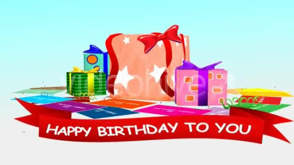 Present Box Birthday After Effects