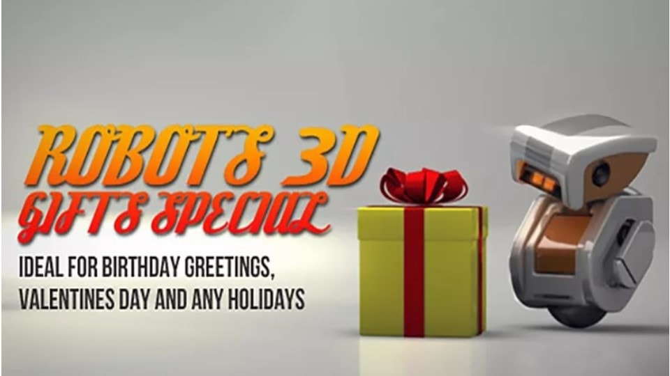 Robots 3D gifts special After Effects