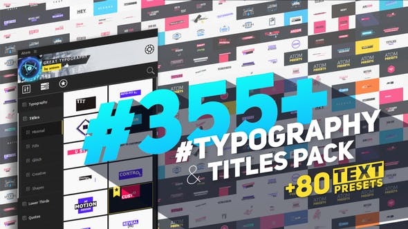 Big Pack of Typography | Atom