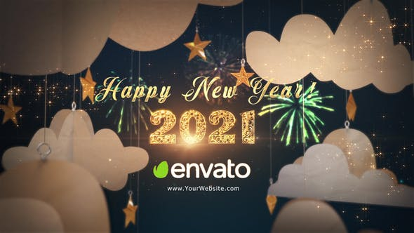 Happy New Year 2021 Paper Greetings 29284932 Videohive
