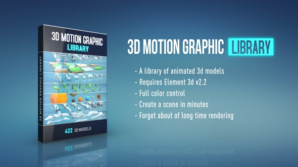 3D Motion Graphic Library