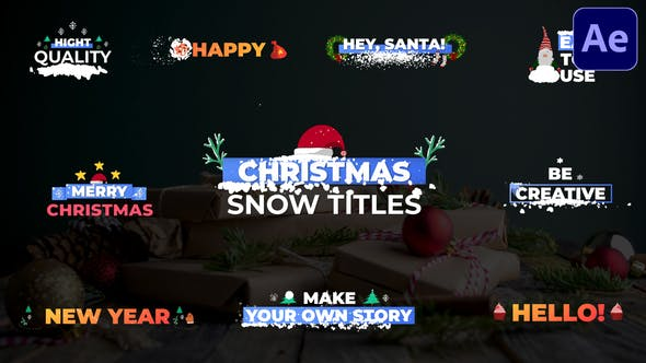 Christmas Snow Titles