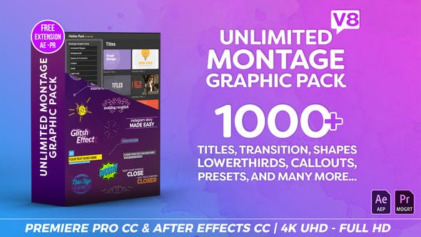 Montage Graphic Pack Titles Transitions Lower Thirds and more